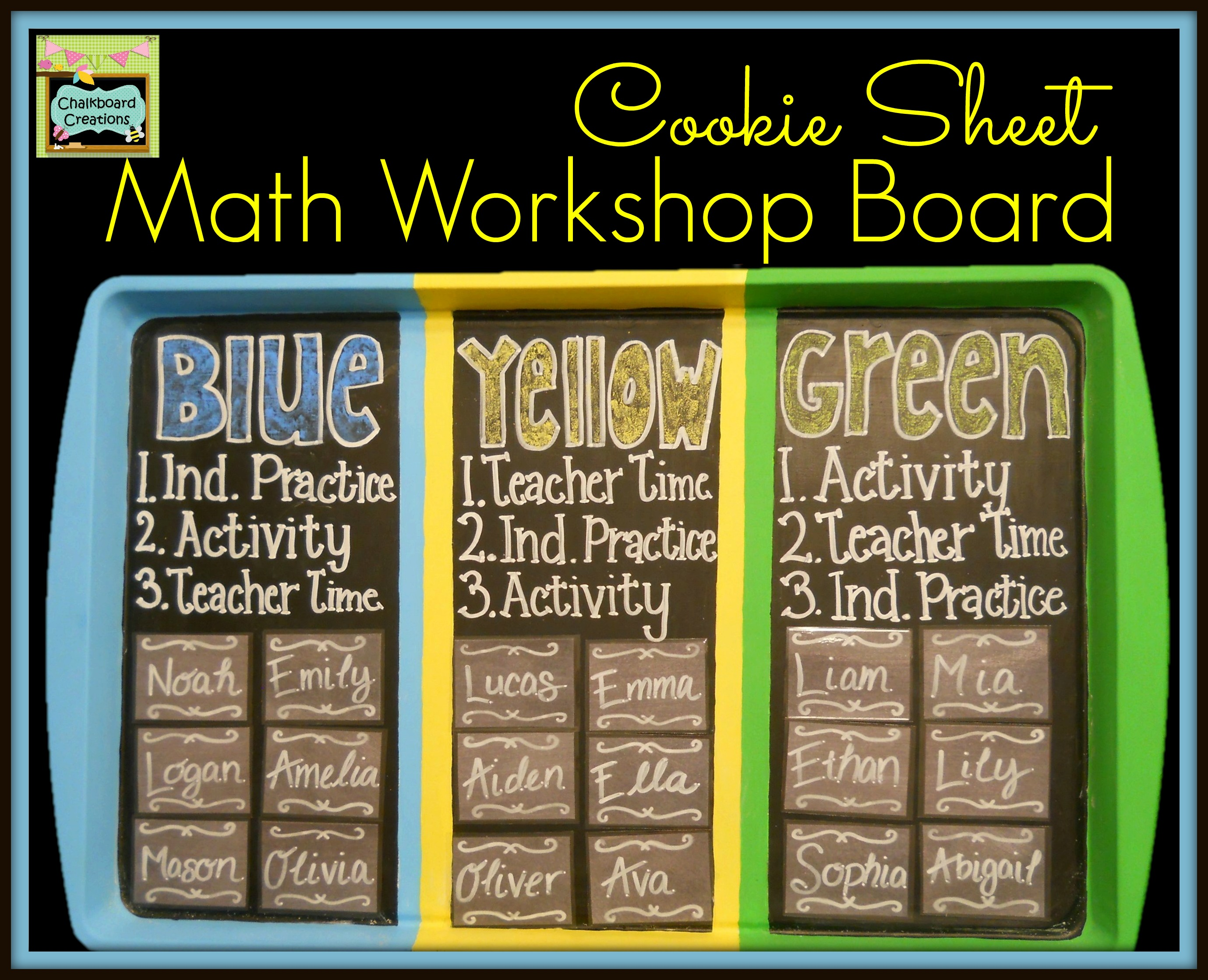 Cookie Sheet Math Workshop Board