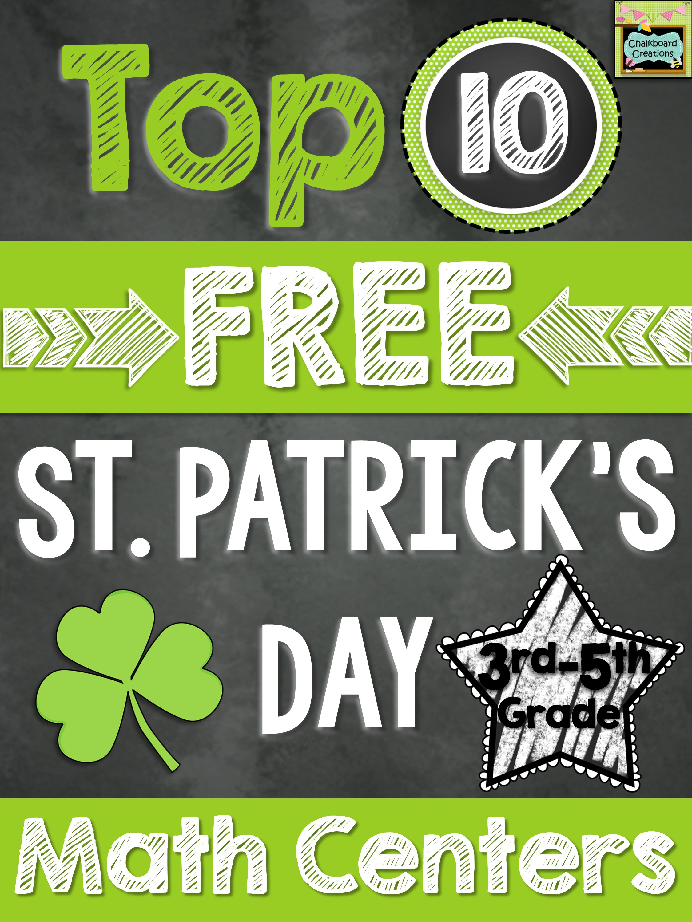 Top 10 Math Center St Patrick's Day 3-5
