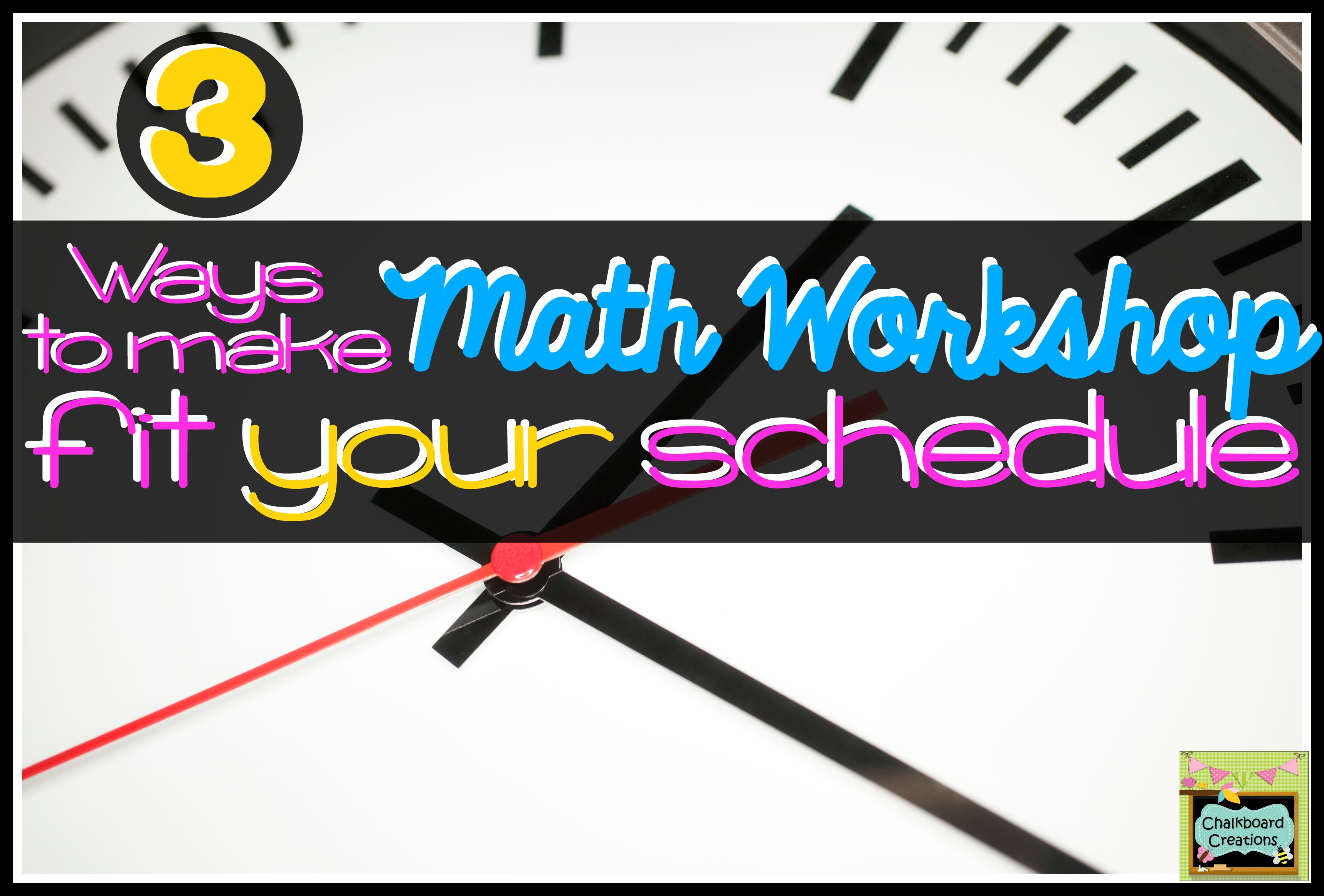 Math Workshop Schedule