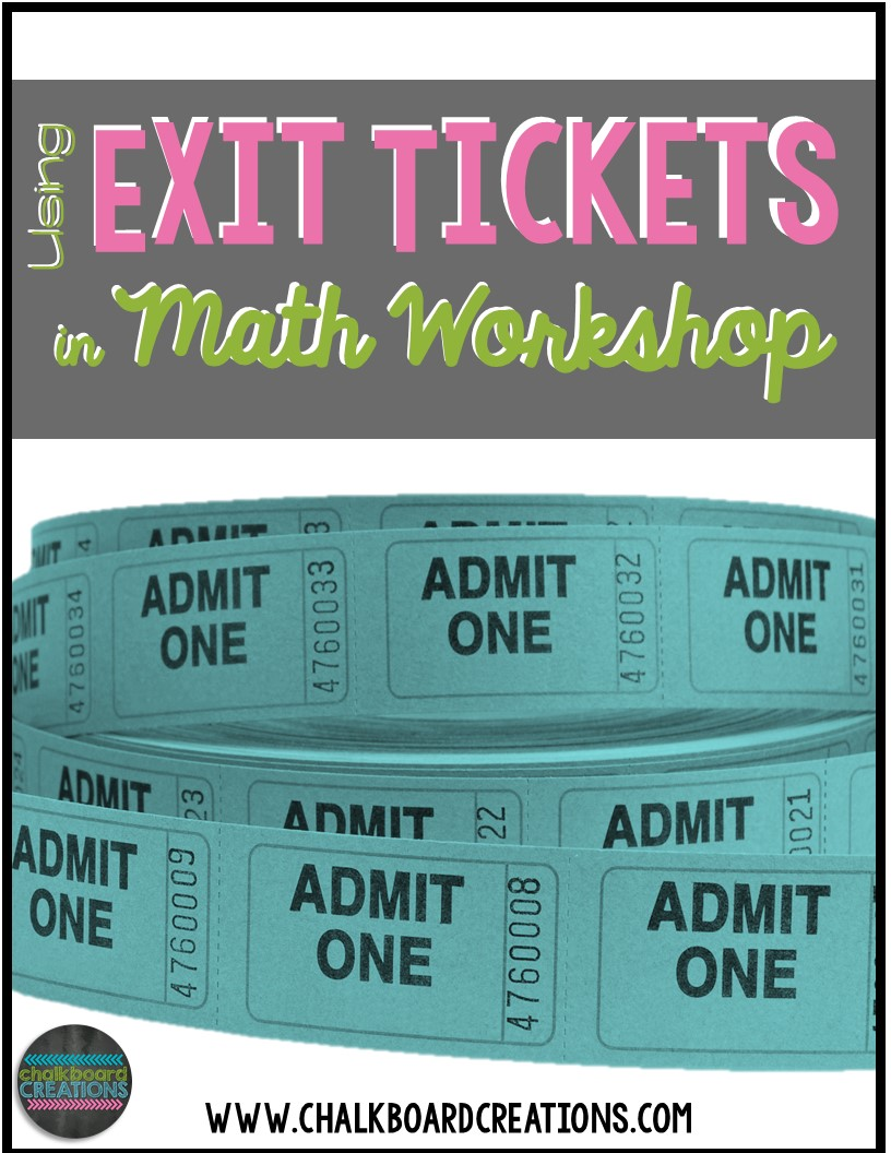 Exit Ticket Math Workshop