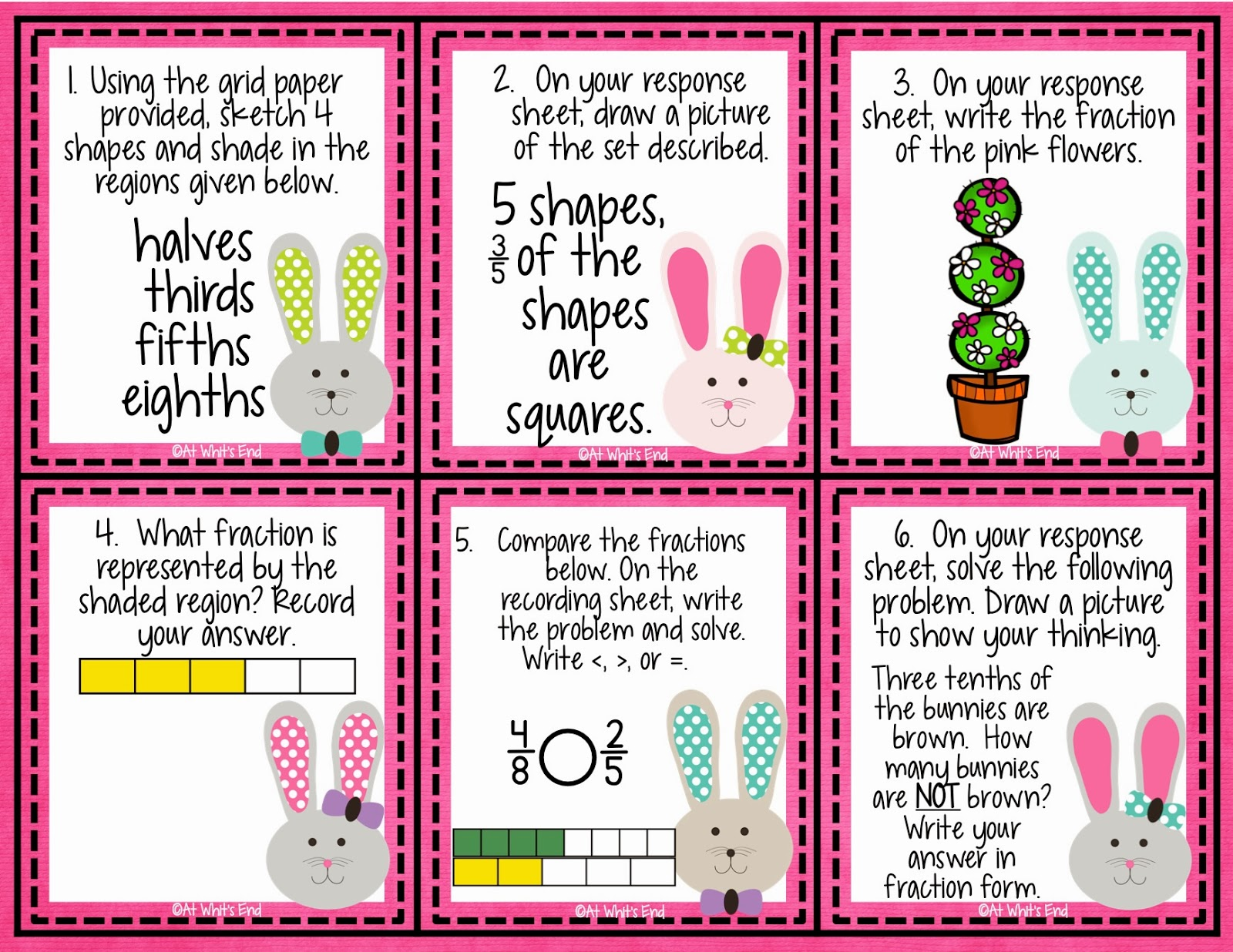Spring Fraction Math center -