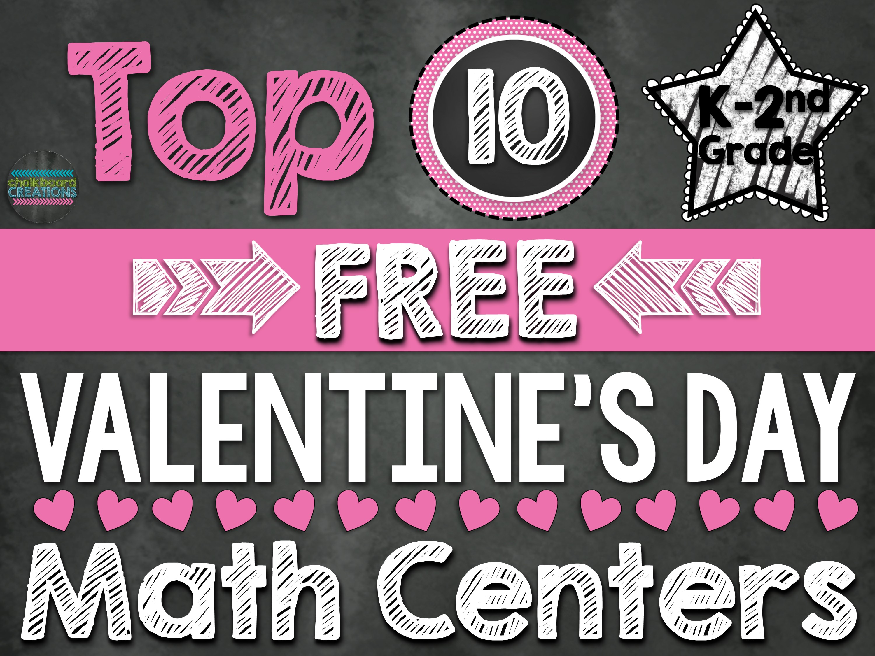 Top 10 Valentines Day Math Centers K-2nd Grade